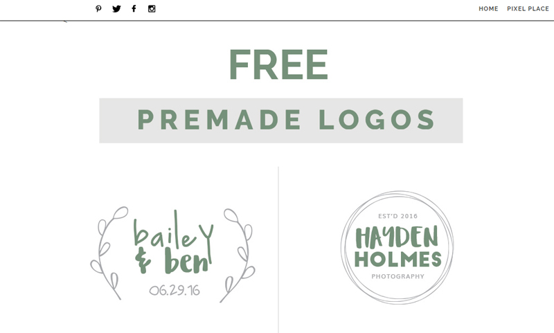 Free premade logo templates designed by Passion for Pixels.