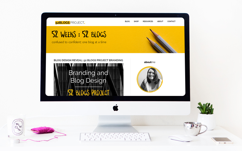 The 52 Blogs Project: A Blog Design and Branding Project from The Badass BusinessMum
