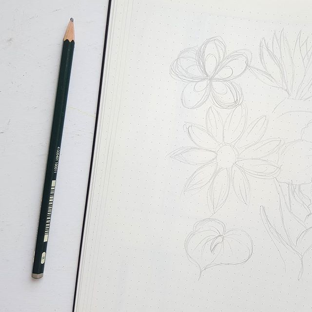Working on some tropical inspiration for August's cover page...