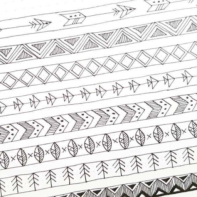 Going #tribal for the next release of printable washi tape for the shop. See what's in stock at www.etsy.com/uk/shop/badassbizmums (#linkinbio)