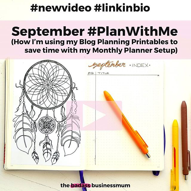 Hand drawn blog planner printables now in the shop! Hand drawn blog planner printables now in my Bullet Journal! Watch my latest #planwithme video to see them ❤ (#linkinbio)