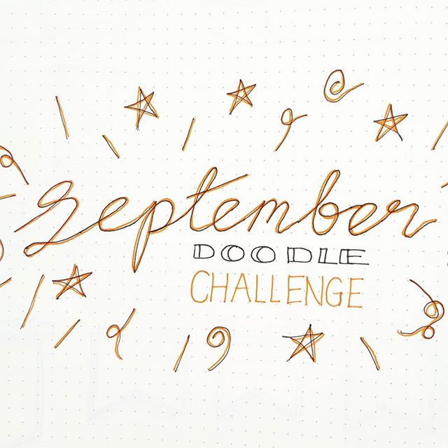 Tomorrow is the beginning of my doodle a day challenge for September. Don't forget to subscribe to my YouTube channel so you don't miss any videos (#linkinbio). See you tomorrow!
