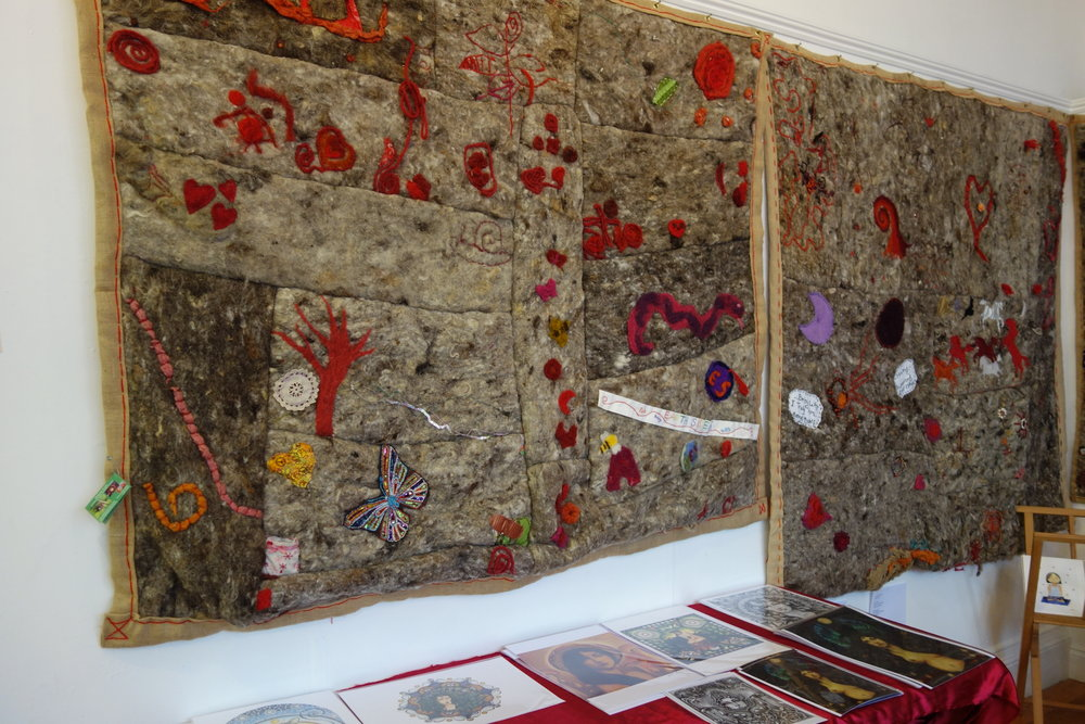 Red Thread Project installed at 'Honouring the Divine Feminine', Stroud (March 5th - 10th, 2018)