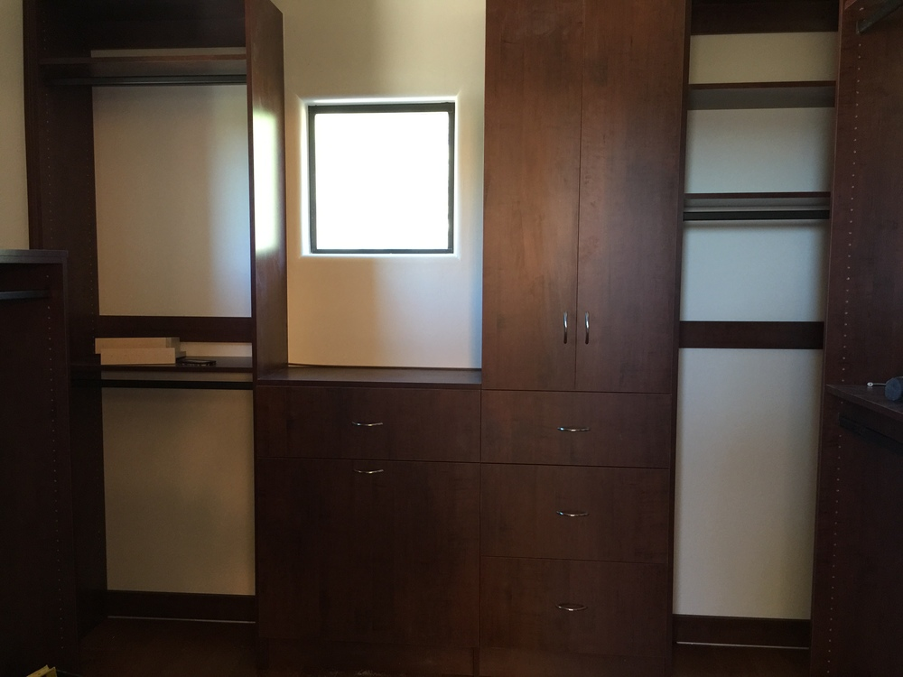 Laundry bin with tall linen cabinet