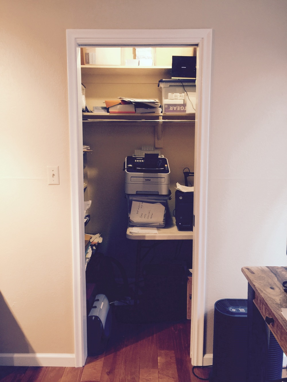 Office closet BEFORE