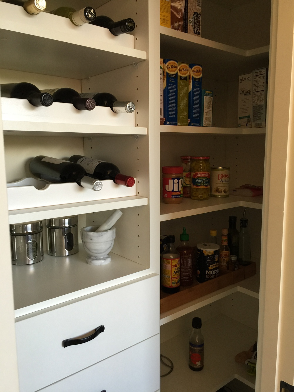 Pantry corner shelves