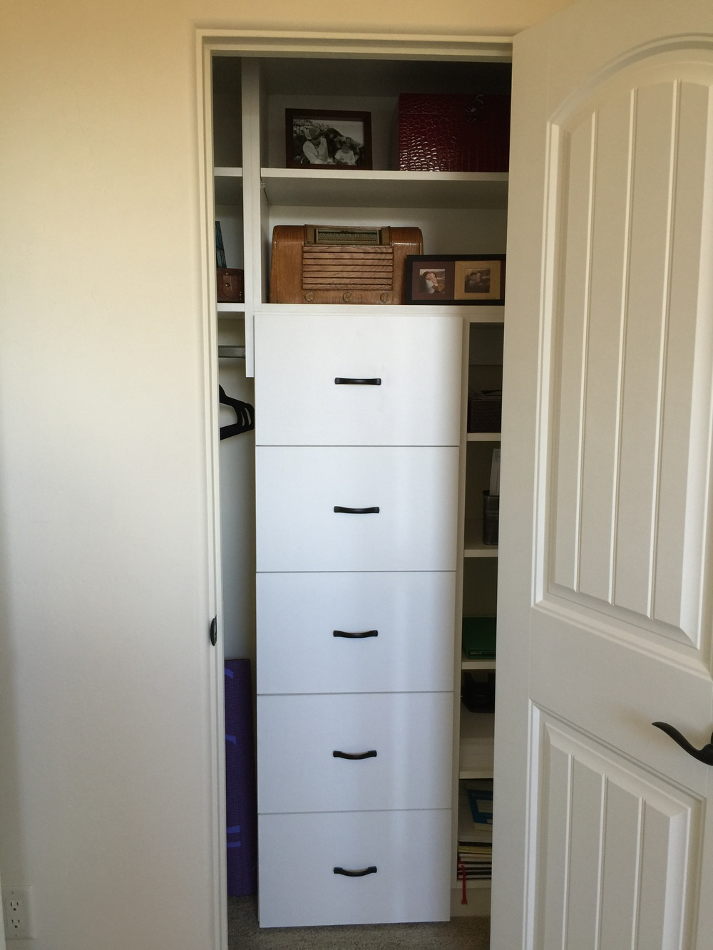 Closet file drawers
