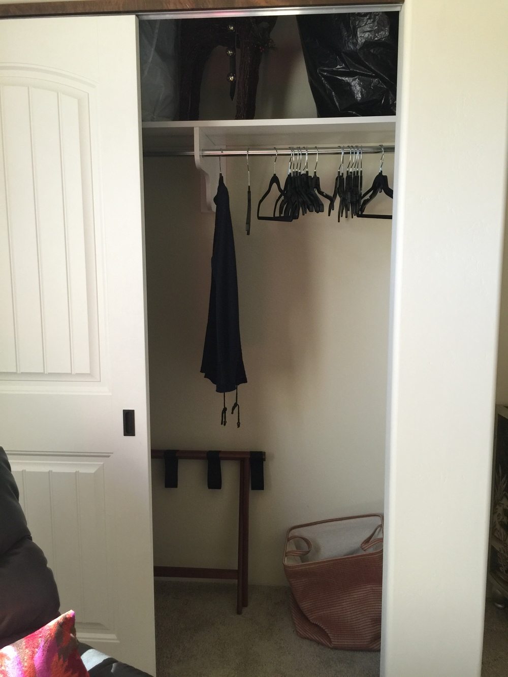 Small Wall Closet Before