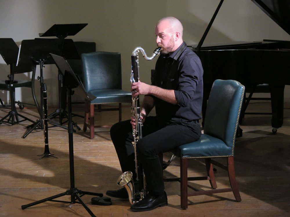 Performing Hong-Da Chin's  Perpetuity  for bass clarinet @ Spaces in Cleveland (2016)