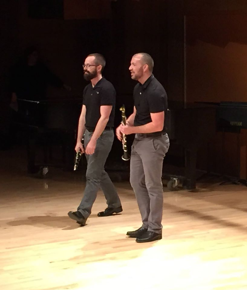 Squirrel Noir (Duo with Derek Emch) after the world premiere of John McCowen's  undana Nos 1-2  for two clarinets @ BGSU's New Music Festival (2015)