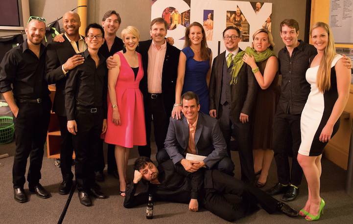Post-performance company photo with the Pittsburgh New Music Ensemble and Friends @ City Theatre in Pittsburgh (2015)
