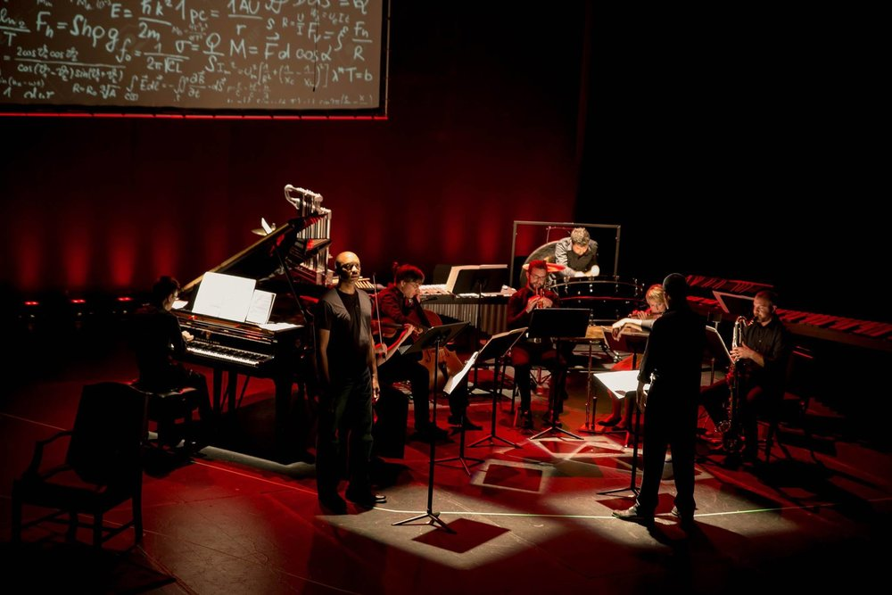 Dress Rehearsal of Kevin Puts'  Einstein on Mercer Street  with the Pittsburgh New Music Ensemble @ City Theatre in Pittsburgh   (2015)