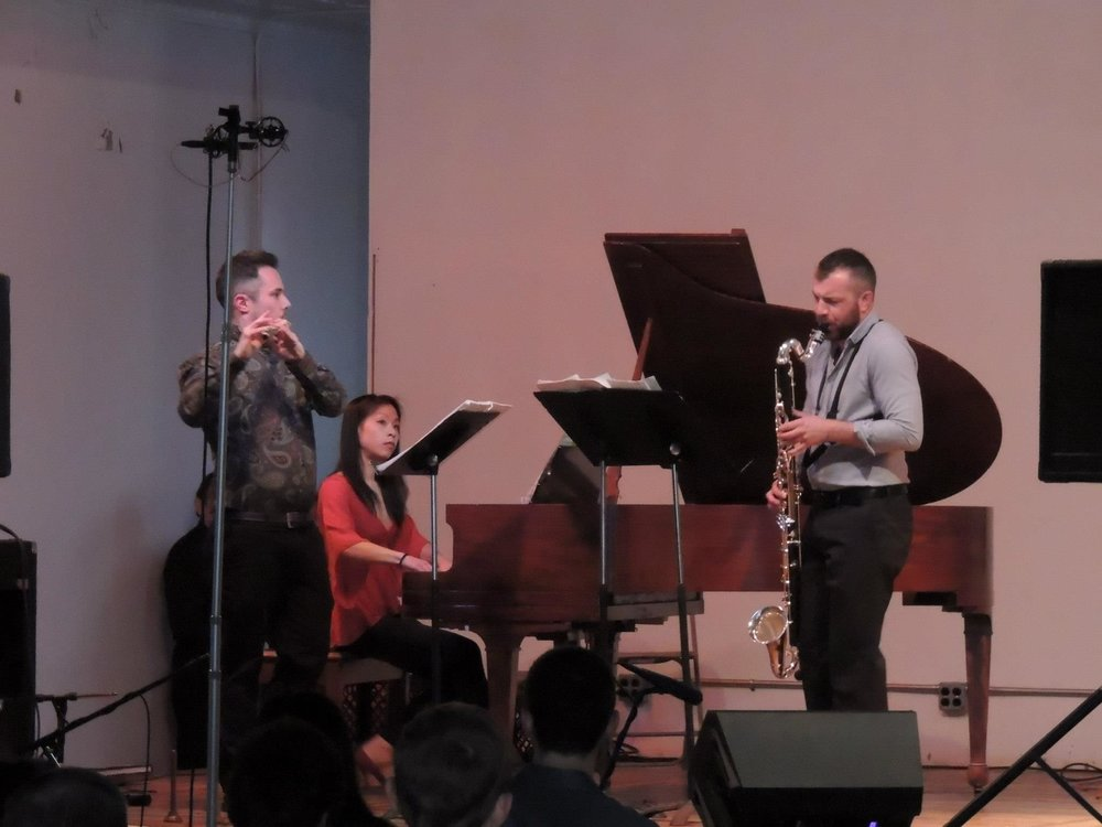 New Music from Bowling Green's performance of Jonathan Harvey's   The Riot   @ Trinosophes in Detroit (2014)  with Jeanette Fang and Conor Nelson