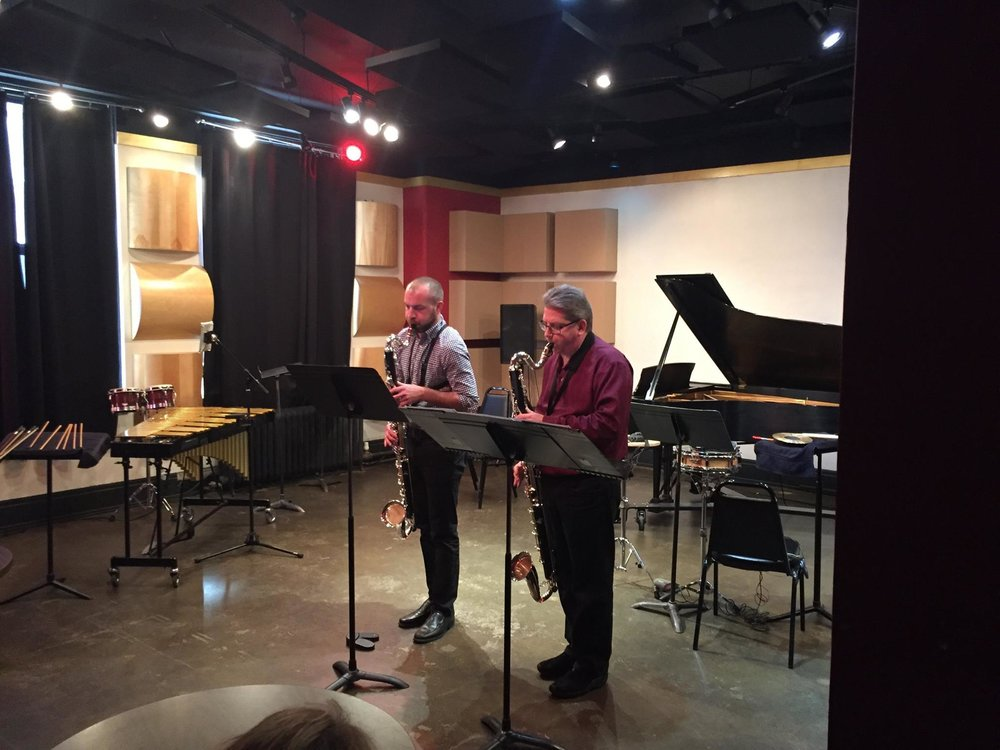 Performing Marc Mellits'  Black  with Pat O'Keefe @ Studio Z in St. Paul, MN (2016)