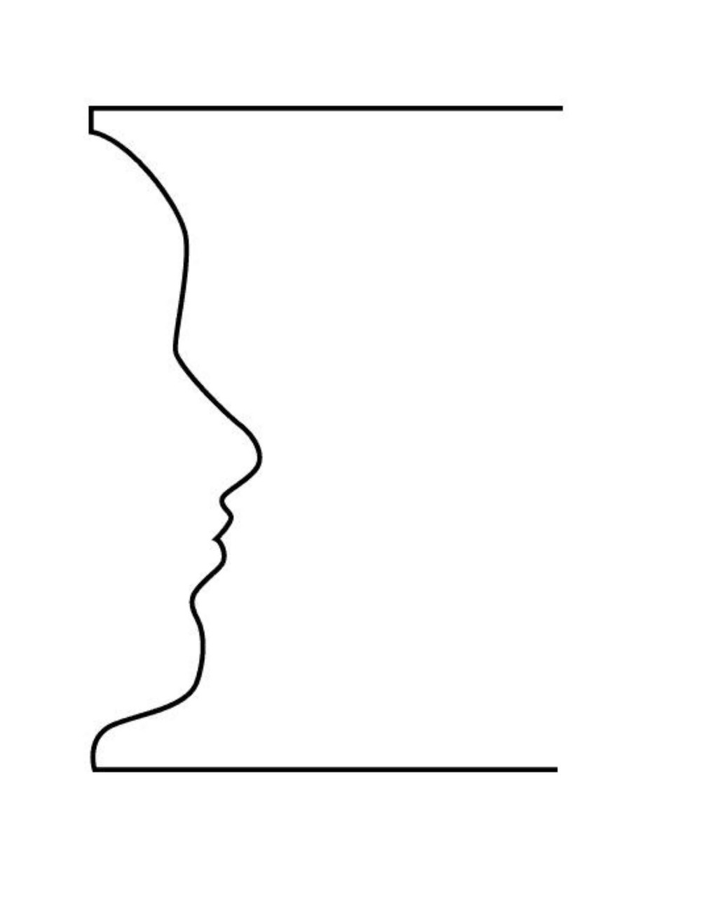 Side Face Line Drawing : Try it the vase faces exercise — drawing on right