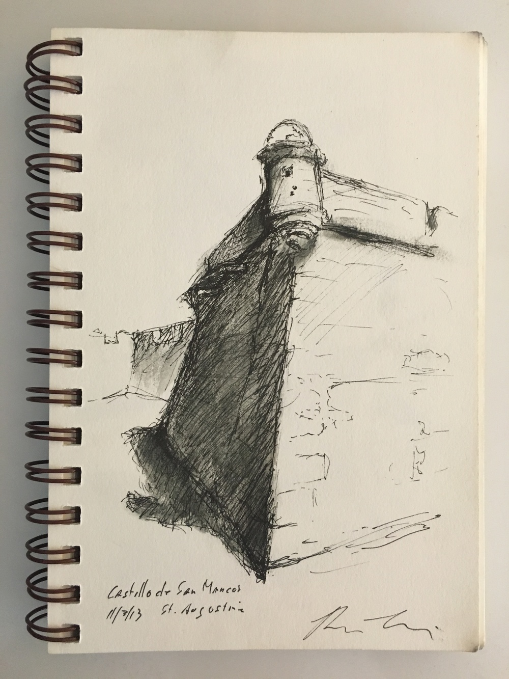 Demonstration Sketch by Brian Bomeisler in St. Augustine