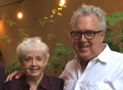 Betty Edwards with her son, Brian Bomeisler, who teaches her DRSB method through workshops held around the country.  See  Upcoming Workshops  for more information.
