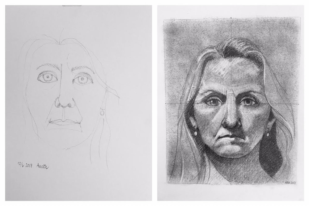 Before and After self-portraits