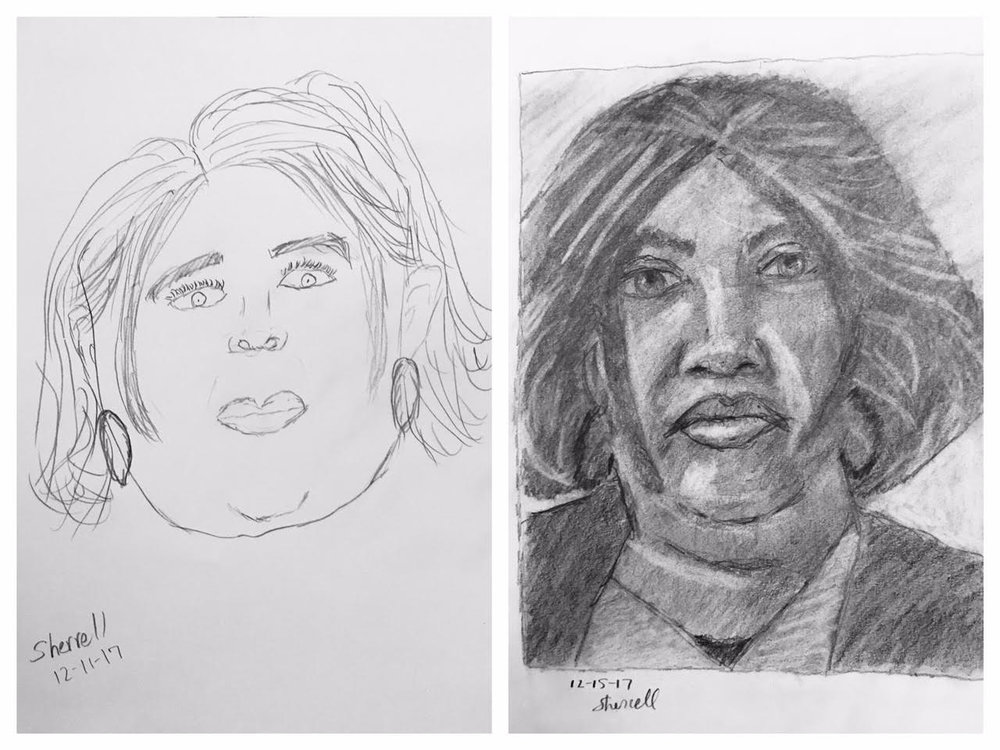 Before and After self-portraits December 2017