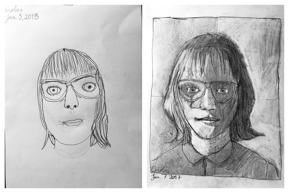 Before and After Self-Portrait 2018