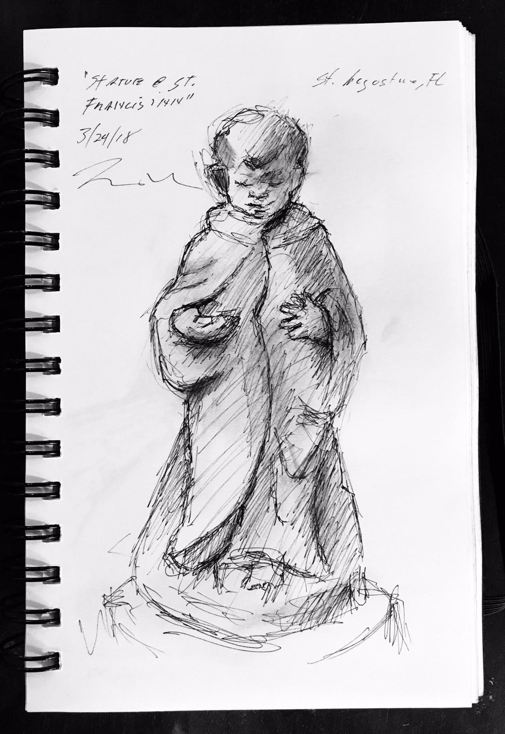 Demonstration Sketch by Brian Bomeisler