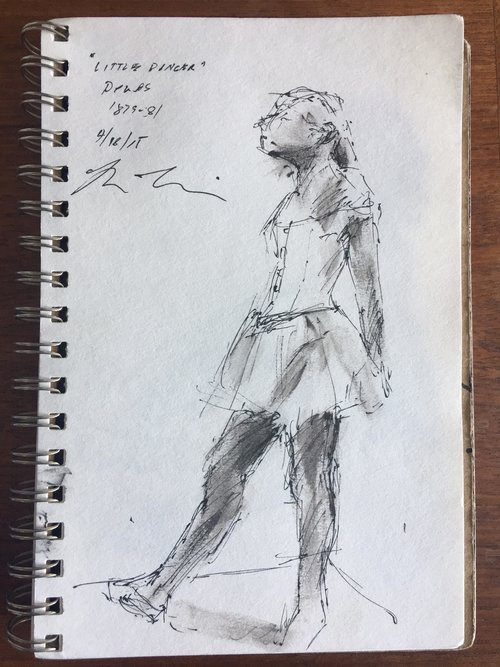 """Demonstration by Brian Bomeisler of Degas' """"Little Dancer"""""""