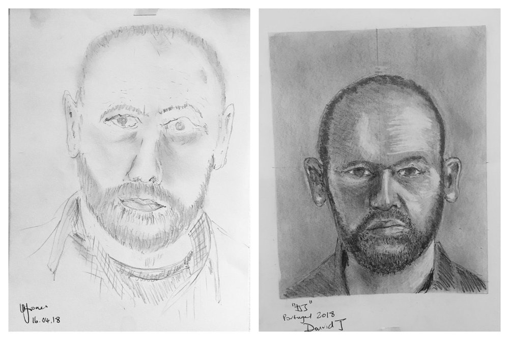 David's Before and After Self-Portrait April 2018