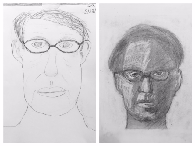 Bill's Before and After Self-Portraits May 2018