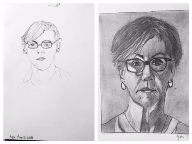 Marla's Before and After Self-Portraits May 2018