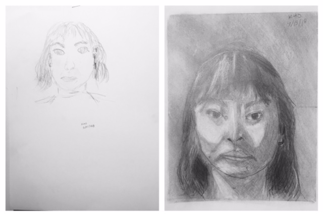 Kriselle's Before and After Self-Portraits June 2018