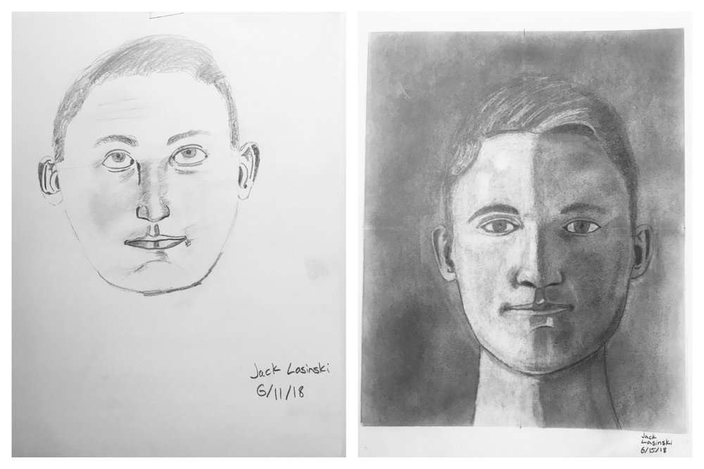 Jack's Before and After Self-Portraits June 2018