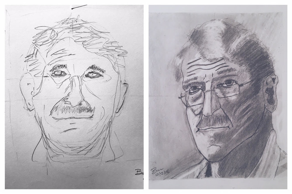 Bill's Before and After Self-Portraits June-July 2018