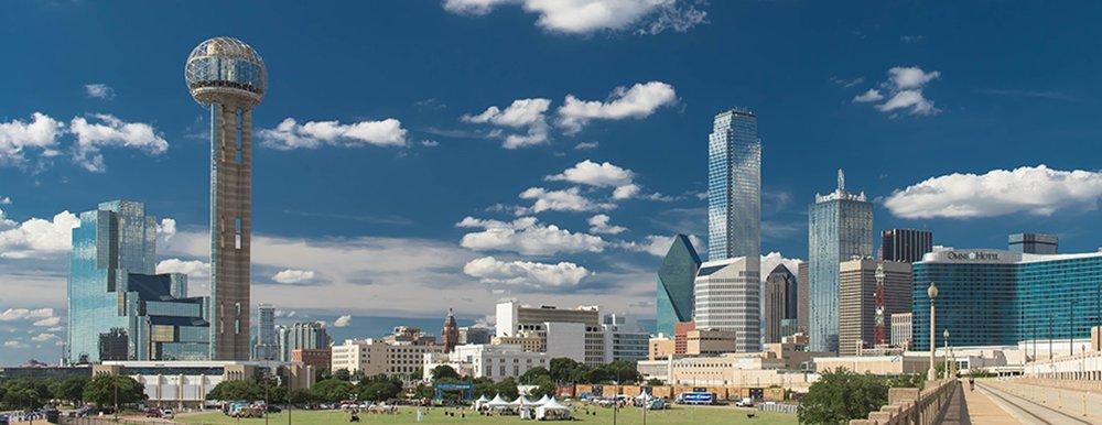 The impressive Dallas skyline
