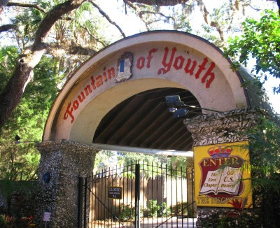 "The historic ""Fountain of Youth"" site in St. Augustine."