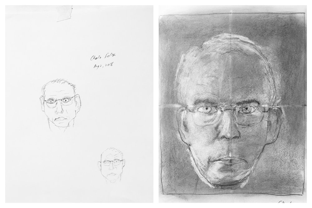 Charlie's Before and After Self-Portraits August 2018