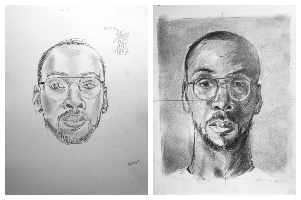 Medy's Before and After Self-Portraits August 2018