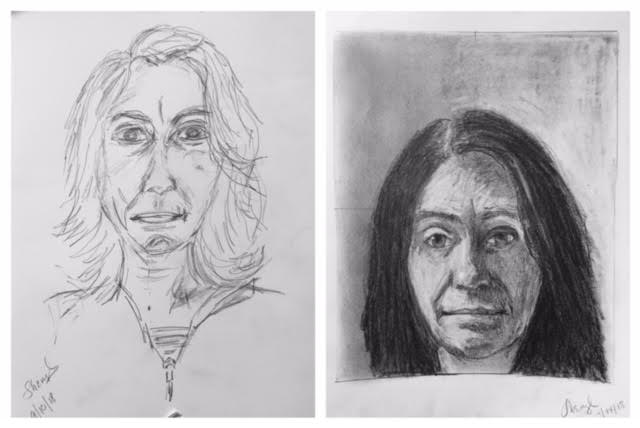 Sheryl's Before and After Self-Portraits September 2018