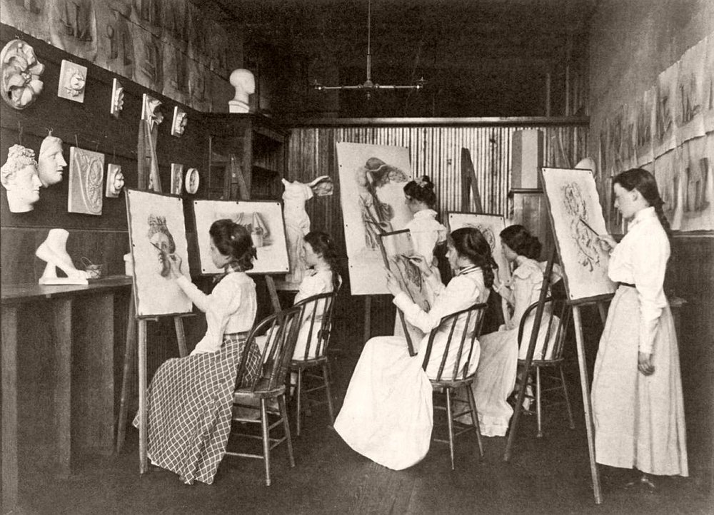 In the 19th century, drawing was a common part of every school's curriculum.