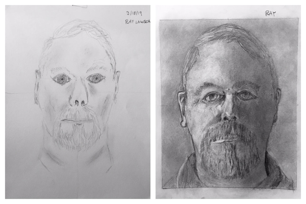 Ray's Before and After Self-Portraits March 2019