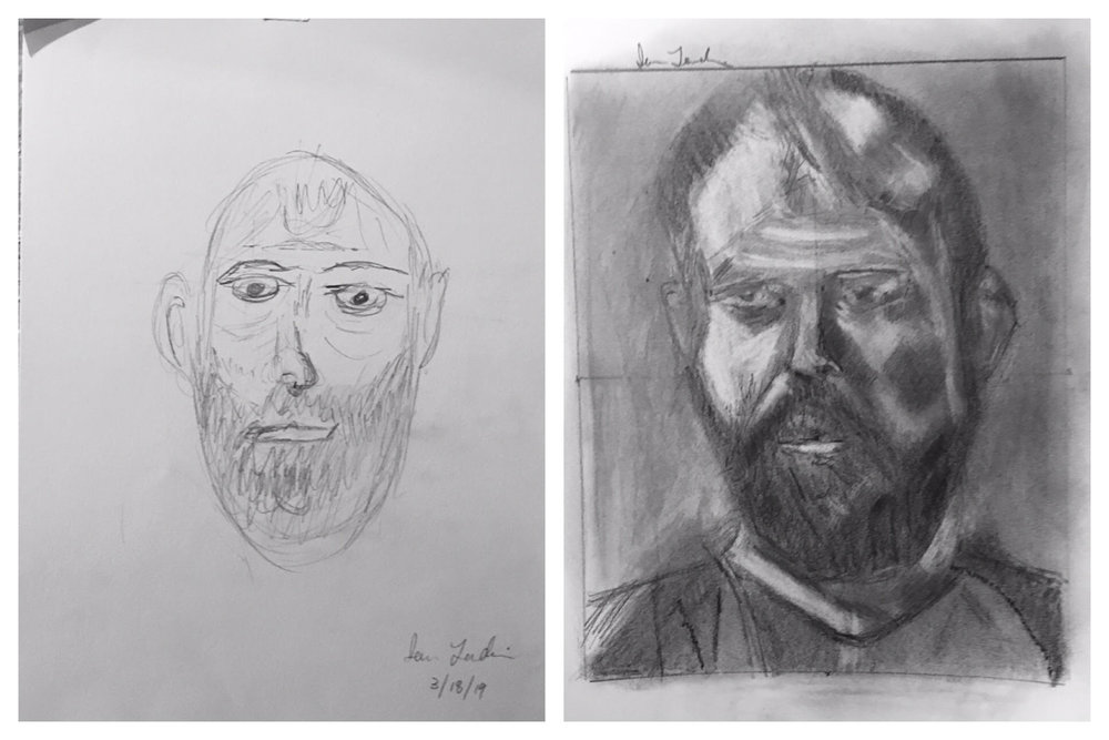 Ion's Before and After Self-Portraits March 2019