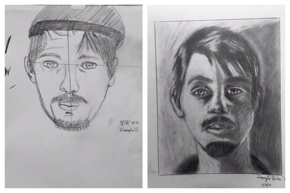 Georghe's Before and After Self-Portraits March 2019
