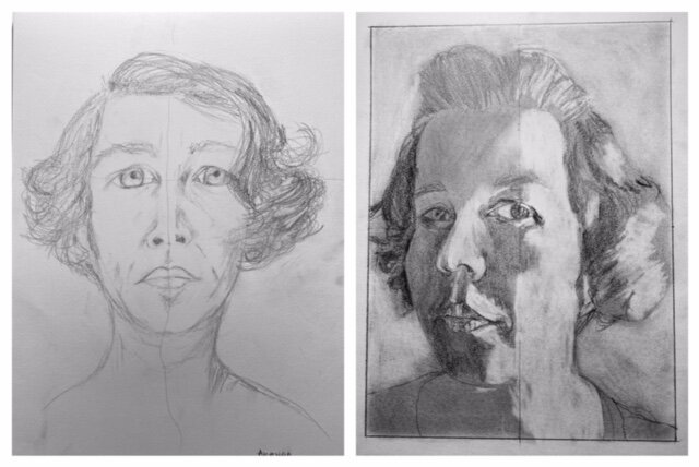 Before and After self-portrait