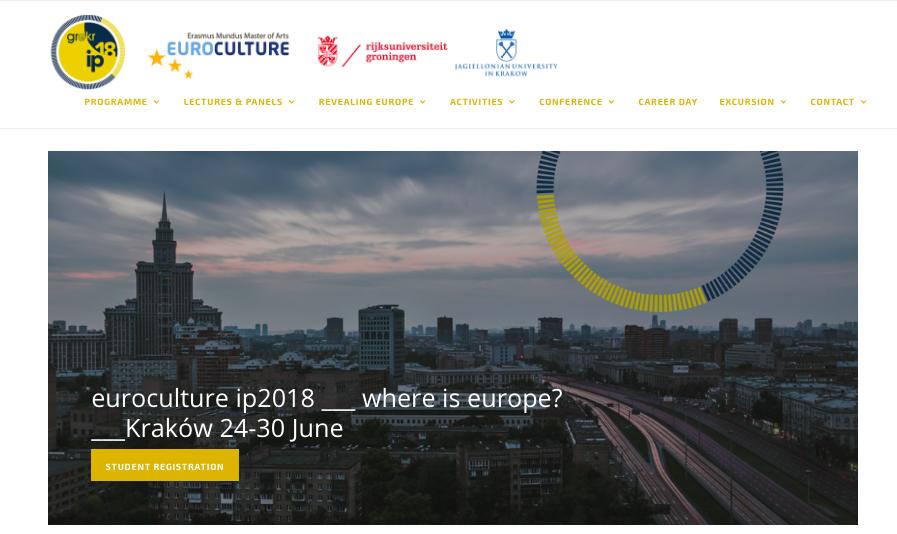 Euroculture Intensive ProgrammeErasmus Mundus Master of Arts - Kraków, PolandFacilitator
