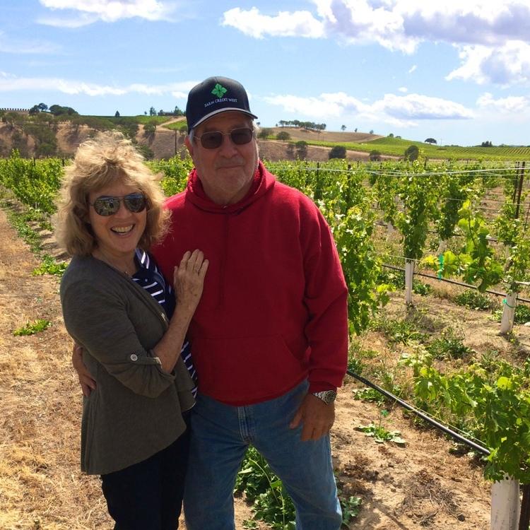 Michael & Serena in the vineyard