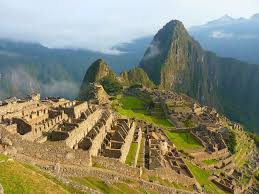 MAJESTIC MACHU PICCHU sits high in the Andes Mountains. The Incan citadel was built in the 15th century and later abandoned.
