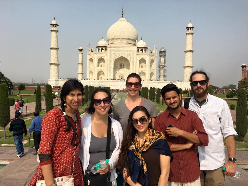 The awe-inspiring Taj Mahal.
