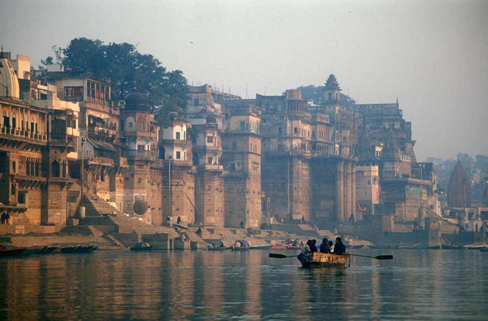 An early-morning boat ride on the Ganges in Varanasi is an unforgettable experience.