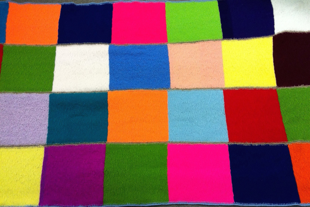 9,800,000+ squares knitted