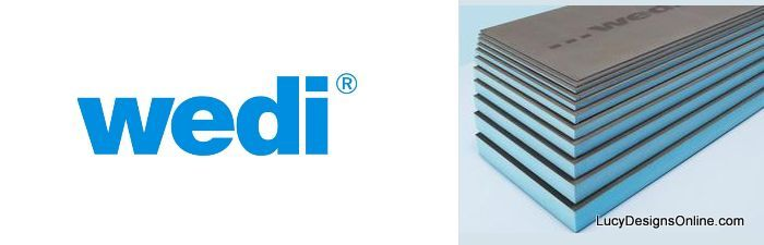 Wedi board is our tile backer anywhere we want a water proof situation.