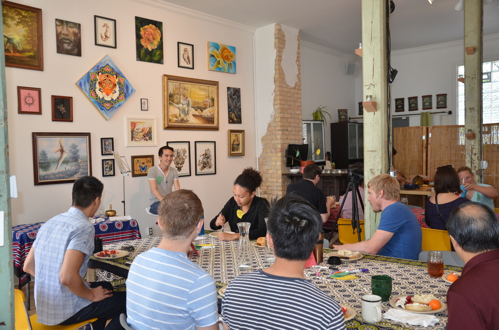New City Church gathering at Modus Locus, a local art gallery